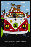 Peace, Woof and Hapiness Poster