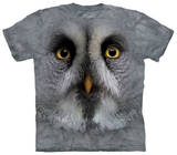 Youth: Great Grey Owl Face T-shirts
