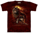 Youth: Wolf Sunset Shirts