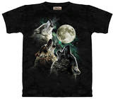 Youth: Three Wolf Moon T-shirts