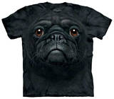 Youth: Black Pug Face T-Shirt
