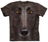 Youth: Black Greyhound Face T-shirts