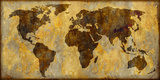 World Map Prints by Paul Duncan
