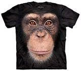 Youth: Chimp Face T-shirts