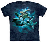 Youth: Sea Turtle Collage T-shirts