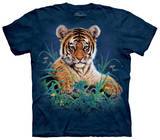 Youth: Tiger Cub In Grass T-Shirt