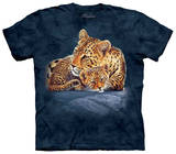 Youth: Leopard & Cub On Rock T-shirts