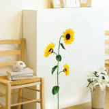 Single Stem Sunflower Wall Sticker Decal Wall Decal