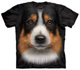 Youth: Australian Shepherd Face T-shirts