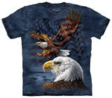 Youth: Eagle Flag Collage Shirts