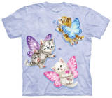 Youth: Butterfly Kitten Fairies T-Shirt