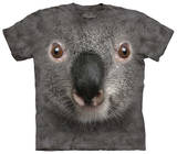 Youth: Gray Koala Face Shirts