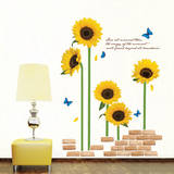ECO Morning Sunflowers Wall Sticker Decal Vinilo decorativo