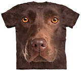 Youth: Chocolate Lab Face T-skjorter