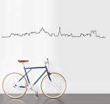 Skyline Paris sticker Veggoverføringsbilde av Antoine Tesquier Tedeschi
