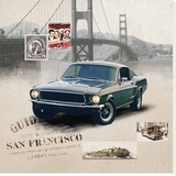 San Francisco Stretched Canvas Print by Patrick Durand