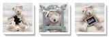 Ours en peluche Reproduction transférée sur toile par Amelie Vuillon