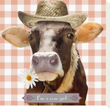 I'm a Cow Girl Stretched Canvas Print by Patrick Durand