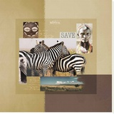 Savane Stretched Canvas Print by Patrick Durand