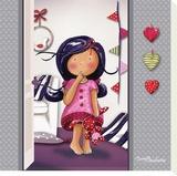 Paulette au Dodo Stretched Canvas Print by Fifi Bastille