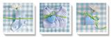 Fleur Bleue Stretched Canvas Print by Amelie Vuillon