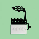 CO2 Factory Reminder double light switch sticker Wandtattoo von Antoine Tesquier Tedeschi