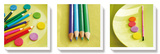 Crayons de couleur Stretched Canvas Print by Amelie Vuillon