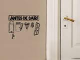 Antes De Sair Checklist sticker Autocollant mural par Antoine Tesquier Tedeschi