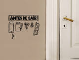 Antes De Sair Checklist sticker Wall Decal by Antoine Tesquier Tedeschi