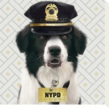 NYPD Stretched Canvas Print by Patrick Durand