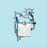 Antoine Tesquier Tedeschi - Melting Walrus Kid Reminder sticker - Duvar Çıkartması