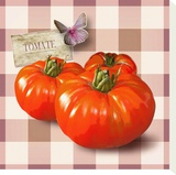 Tomates Stretched Canvas Print by Patrick Durand