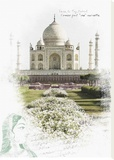 Taj Mahal Stretched Canvas Print by Patrick Durand