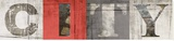 Ville Reproduction transférée sur toile par Patrick Durand