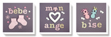 Mon ange Stretched Canvas Print by Amelie Vuillon