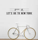 Let's Go To New York sticker Wall Decal by Antoine Tesquier Tedeschi