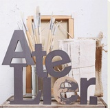 Atelier Stretched Canvas Print by Amelie Vuillon