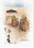 Caravane et Chameau Reproducción en lienzo de la lámina por Patrick Durand