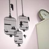 Birdcages sticker Seinätarra