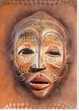 Masque africain Reproducción en lienzo de la lámina por Patrick Durand