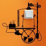 Hamster Wheel Generator sticker Autocollant mural