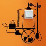 Hamster Wheel Generator sticker - Duvar Çıkartması