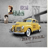 New York Stretched Canvas Print by Patrick Durand