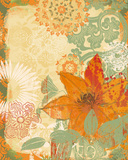 Folk Flower II Giclee Print by Ken Hurd