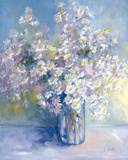 Delphiniums and Daisies Giclee Print by Genevieve Dolle
