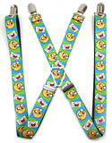 Adventure Time - Finn & Jake Expressions Suspenders Novelty