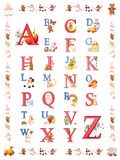 Alphabet Giclee Print by Carole Gray
