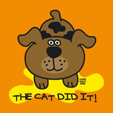 The Cat Did It Giclee Print by Todd Goldman