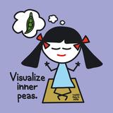 Visualize Inner Peas Giclée-tryk af Todd Goldman