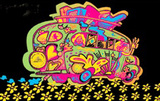 Love Bus Flocked Blacklight Poster Print Reprodukcje